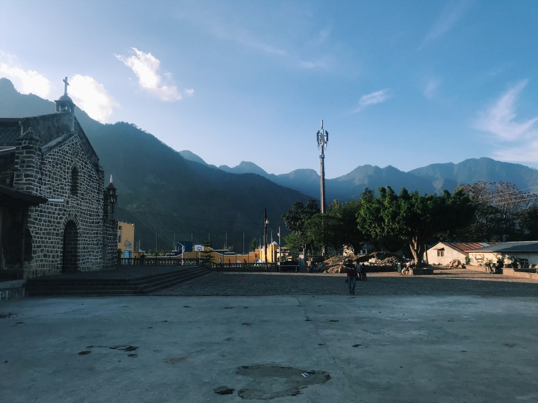 Courtyard in San Juan La Laguna