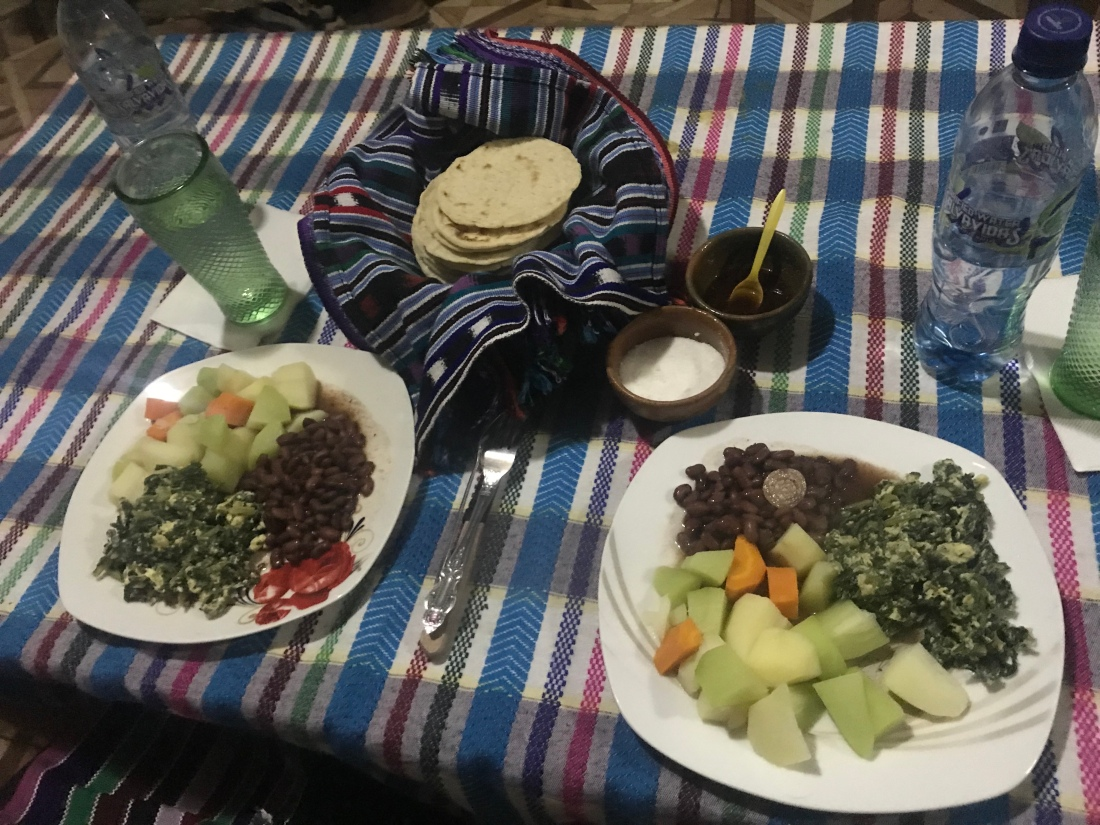 Guatemala homestay dinner