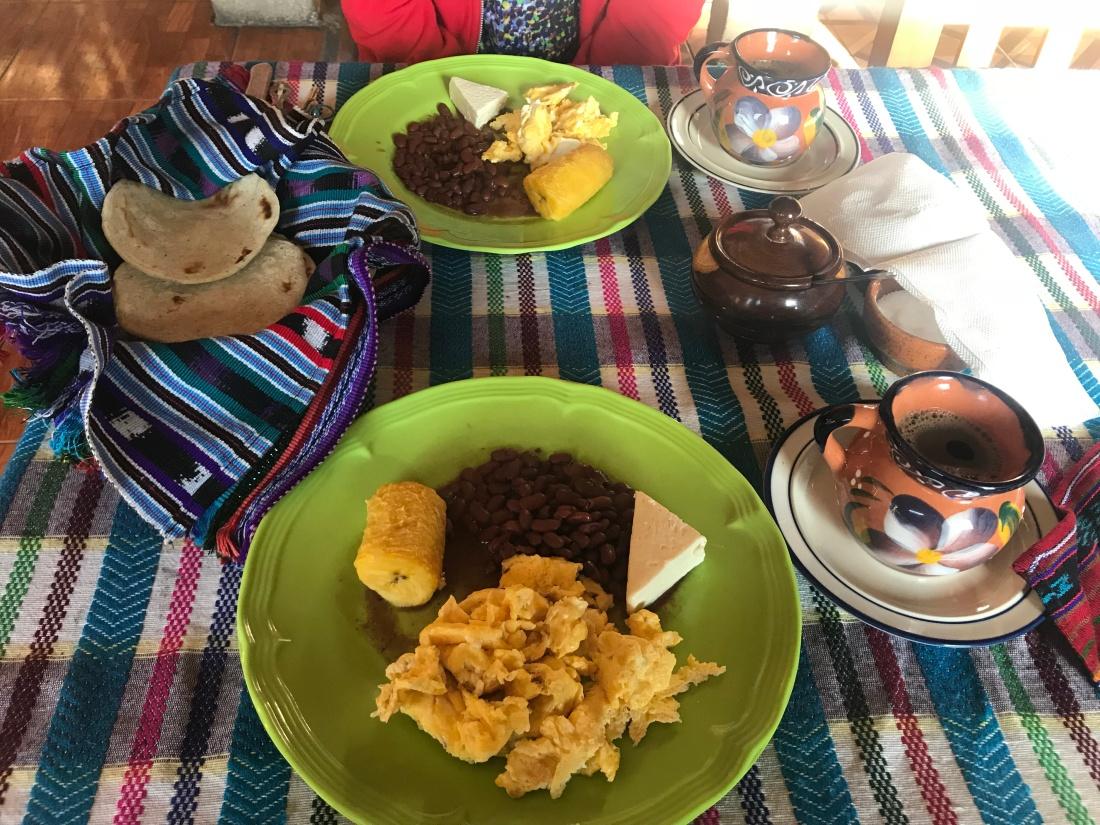 Traditional Guatemalan breakfast