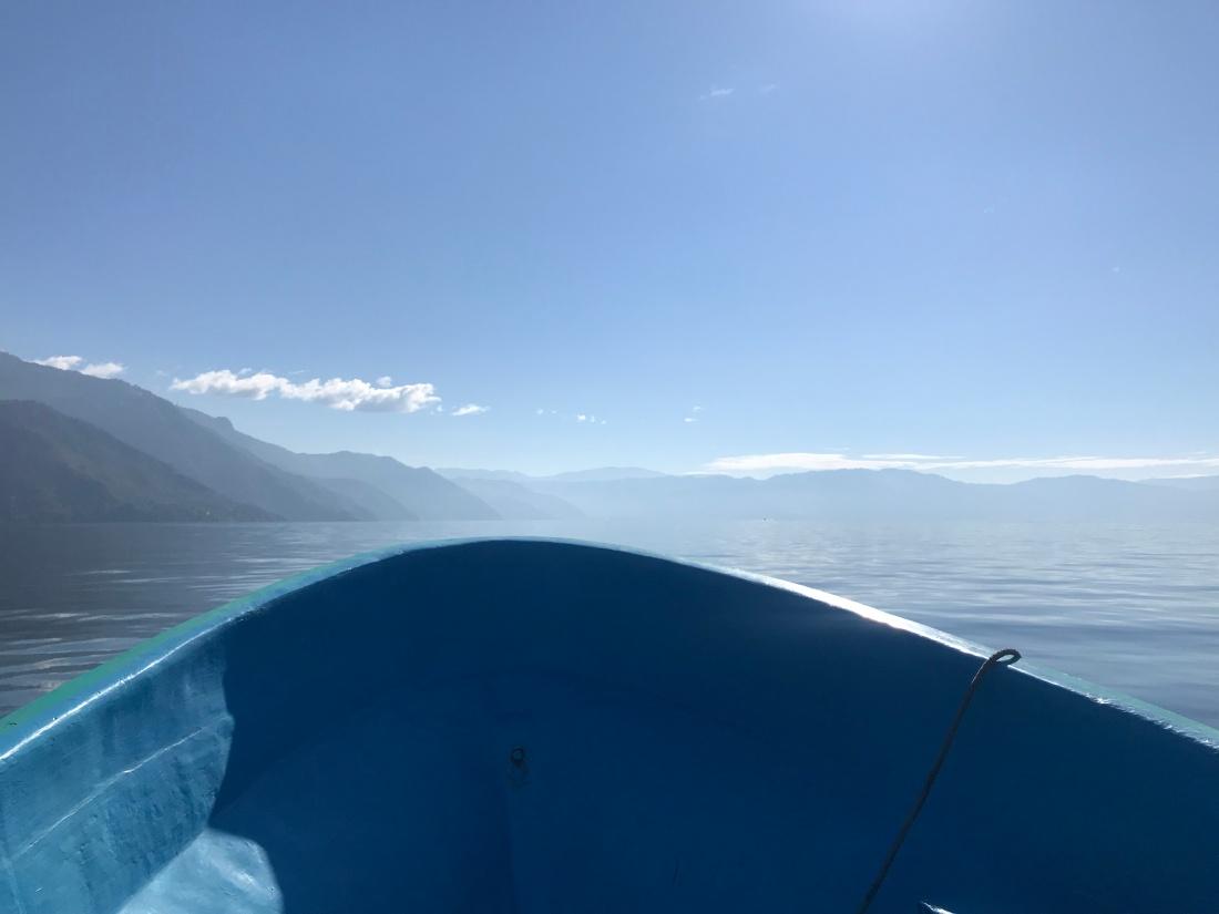 The boat ride to San Juan, Guatemala